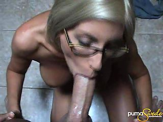 Puma Swede POV blow job : Slutty milf Puma Swede in a blow job POV scene sucking and enjoying a huge fat cock. This girl enjoys that cock more than anything else and makes love to it with her hands and mouth. Pumas eyes watering as she tries to deep throat the fellows enormous cock.