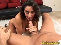Great milf big tit movie : Have you ever had a chick who took complete control and you didnt have to do a thing but lay back and let it happen? Thats Persia. Shes a cock-loving MILF with a set of grade A tits and a dirty mouth that needs to be washed out with cock. When she pulls her tits out of her halter top youll drool like youre 6 days old again and dying to latch onto her mama milk jugs. She calls herself a cumslut and you know what? Id have to agree. She uses every part of her body - from her mouth to her twat to her tits - to drain the cum out of her young studs balls. She climbs on to ride his cock and lets her tits bounce in his face and then licks her twat juice off his cock all while keeping up a dirty commentary that would make a hooker blush. Trust me only a mom can multi-task like that!This update is certified MILF! Monique
