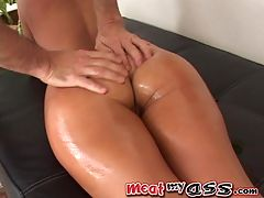 Sandra Romain is an ass vet : Theres a reason Sandra Romain has been around for 6 or so years HER ASS!!! My my my! She has one of the most scrumptious behinds Ive ever seen hands down!!! Its such grabbable lickable squeezable fun!! Those shimmery briefs are the perfect fit for her!! And ooohh.... moan look at those shiny panties conforming to her pussys lips... SO YUMMY!!! Makes me wanna go muff diving! Is eating pussy considered cannibalism since Im a girl...? No? Okay... Anyway - This scene is ass worship at its finest!! You just KNOW that MeatMyAss is going to oil up that plump juicy Ass! And oh YES!! Sandra takes her handy dandy dildo and shoves it straight into her sphincter!!! No messin around here! We get down to business! And WHAT IS THAT?!?? Why gentlemen I believe that is ASS TO MOUTH!! Sandra swallows like what is that..? Almost a foot of Cock!! Thats CRAZY to know what your anal cavity tastes like 11 inches deep!! Thats a brave woman right there. Her ass juices must taste like strawberries if shes willing to do that!! Shall we go check? Sucks Giggles and a little ass play--NeecieMeatMyAss Team Member
