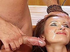 Angela Winter fucked : Hot European babe Angela Winter fucked DP style by two huge cocks