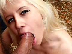 Anal Fucked Mandy : Mandy is a horny blonde who loves nothing more than a huge cock. It seems like this hot chick is addicted to sex and as long as either of her holes is filled, shes happy. Watch as this blonde hottie bends over and shows off her tight ass before finally spreading wide to have her hairy hole fucked hard and raw.
