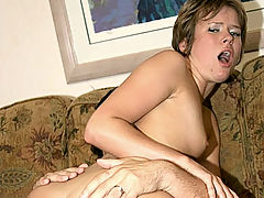 Ass Fucked Claired : Claire Robbins is one pretty, sweet thing but the moment she lifts off her skirt and starts rubbing her shaved pussy she turns into one nasty slut. I rub my cock all over her wet slit before I finally direct my huge cock up her tight little ass.