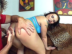 Ass Fucked Katja : Katja Kassins a German beauty with a curvy figure and a ferocious appetite for anal pleasure. Watch her unleash her tits and pleasure a stud by grinding on top to work his cock with her pussy. Watch her ass get some splitting as she takes it in her behind.