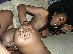 Hard Fucked Black Beauty : Beauty Dior loves to drink cum so we gave her just that. This sexy ebony chick loves to display her hot black body to men and invite them over to fuck. Watch as this ebony babe lift her legs high so she could have the deep hardcore fucking that she wants.