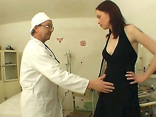 Sexy Babe Enters Sex Clinic : This clinic sex scene features Michelle coming in for her breast exam wearing a sexy black dress. She started teasing the doctor and soon the guy gave in and made her suck his fat cock. Here Michelle got thorough and deep pussy probing from the doctors fish.
