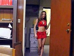 Sexy Passion Gang Banged : This petite brunette office worked stepped into a stock room and joined a group of horny office workers. Passion is one horny office worker and she enjoys teasing guys by putting on skanky outfits to work and here she got gang banged by her horny co workers.