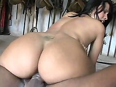 Cock Crammed Latina Evelyn : Evelyn is a horny Latina who enjoys riding big cocks with her tight slit and asshole. Check her out, she looks so hot with her sweet face, curvy body and sexy cowgirl uniform. She undressed and seduced a hottie into treating her with hot anal pleasuring.
