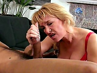 Cock Loving Mature : Sierra Vista is a really good hostess that is why Taylor here loves visiting this blonde mature grandma. She always manages to please him and the way she strokes his erection through his jeans makes him so hard and horny that he just wants to fuck her so good.