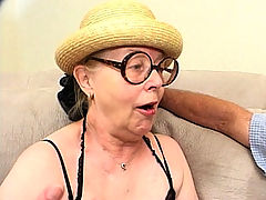 Gangbanged Hot Granny : Mrs. Fire is aptly named for this sexy granny is one feisty lade and definitely hot in bed. We got her to come by to our place and before long, she had five hot men eager to plug all her holes and she sure took them all in like one experienced lady.
