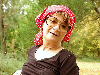 Granny Outdoor Sex : Szandra loves going on picnics alone because its easier for her to get fucked by horny strangers. Here, this naughty granny has found a horny mature man and she eagerly rides up his cock as they fuck wildly on the forest floor. She sure loved every minute.