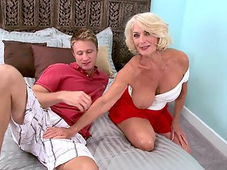 Is Georgette A Slut Or A Classy Lady? : Hey, why cant she be both? But as Georgette Parks arrives at 60PlusMILFs.com, a grand return if there ever was one, looking sexy and ready for action--we ask the question that has been asked of her so many times since her debut in 40Something magazine five days ago. And we can hardly wait to ask it! We greet Georgette in the lobby, then escort her to the studio, our camera checking her out every step of the way. First, Georgette tells us whats been going on in her life, and then we spring the question, which shes only too happy to answer. Or at least try to answer. As a prelude to the hardcore action thats to come, this unique interview is as good as it gets.