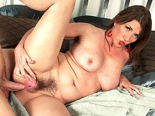 Josette Gets A Deep, Penetrating Massage : Josette Lynn, a 54-year-old divorcee from South Florida, goes for a massage and gets the complete spa treatment cock in her mouth, pussy and still-tight asshole.brbr Now thats a day of relaxation I could really get into! Josette said.brbr You can see in this video that the masseuse, despite how little time he actually spends working on Josette Lynns muscles and loosening them up as opposed to how much time she spends on his muscle, must be giving her a pretty good massage. How do we know that? Because his cock has no trouble sliding into the tightest orifice in her body her asshole.brbr The key to enjoying anal sex is complete relaxation, Josette pointed out. If youre too tense, the guys not going to even be able to get his dick in, and thats no good. I dont need a guy fighting with my asshole when hes trying to fuck me. I want him to know his cock is welcome.brbr 50-plus MILFs...dont you love them?