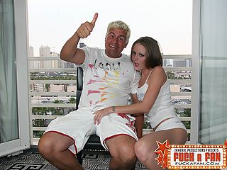 Pornstar Hailey Young Fucking Her Fan Dan : Poor Hailey hadnt eaten a solid meal in over six weeks as she prefers a diet of booze and cigarettes like most former LA porn girls who wind up hooking in Vegas. Our director Jim spotted Dan as he had just won the beer drinking contest at the XBIZ show. A very Drunk Dan was beyond pumped to fuck this skinny minny. After watching Dans enthusiasm Jim divorced his longtime sidekick Johnny Thrust. Jim and Dan decided to form a renegade outlaw duo producing and directing team more perverted and demented than any combo since The Mitchell Brothers. The creative force at Immoral Productions was created over a case of beer and this cheap whore. We are all thankful for this day and it will go down in porn history as the day that will be talked about for generations.