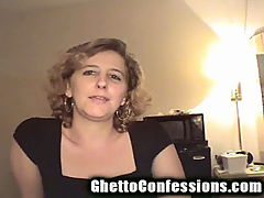 Ghetto Gang Bang Queen Tells About Doing a House Full of Guys : Blondie has no shame in her game. She is matter of fact as she tells all about working as a street ho. Listen to Blondie tell how she did a house full of Mexicans in a gang bang free for all. Blondie takes pride in being able to swallow huge black cocks without gagging. After Blondie shares her twisted tales from the streets Cracker Jack samples her oral skills and gives Blondie a big mouthful of hot cum.