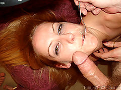 Wife Gina Taking On 3 Cocks for an Air Tight : Gina tells Dirty D her fantasy is to fuck 2 guys. Dirty D decides to give her three cocks instead of just two. She fucks Dirty D like a love starved slut while getting every fuck hole filled. After Gina gets her ass fucked she gets her first double penetration and then a three hole air tight.