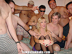 Little Slut Wife Drinks Cum From a Glass : This is our infamous Bukkake Funnel party. Holly is a cum slut that loves to be filled up with as many creamy loads as possible. Holly collects all of the cum in a glass and then pours it down the funnel deep into her fertile pussy. Extreme Cream Pie Action as she pushes it back out.