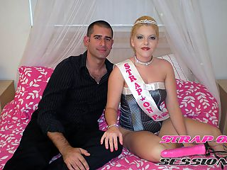 Strap On Princess Pounds Adams Ass with a Big Butt plug : Adam wants to get his ass reamed so I let him know right away he is in the right place. I give him his first butt plug and make sure to punch his shit in real well. I stretch his mangina with my big black girlie cock and make him clean off his ass juice. He jerks his dick for me while I fuck his ass. He shouts may I cum princess and waits for my cue to let him jizz on himself and then tastes it.