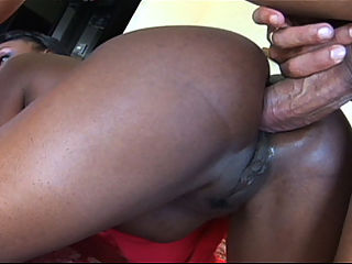 Ebony babe Jada Fire crammed up her sweet ass with massive cock