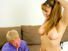 All For The Cash : innocent busty girl gets tight pink hole filled with cock