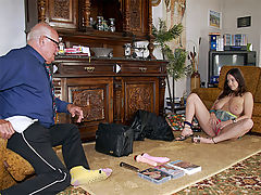 Busty teen fucked : During an interview Mireck admits that he has never used any sex toys. In fact, he hasnt seen them being used either. So a sales girl with the biggest tits he has ever seen pays him a visit at home for an extensive demonstration!