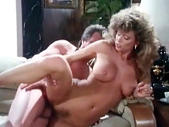 Unexpected fuck : A couple is in a living room arguing with each other. Suddenly she lifts her dress, showing her hairy pussy. He starts licking it. A little later the both of them are naked. The girl leans over the couch so he can fuck her from behind.