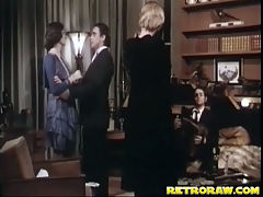 Music to fuck by : Two women and a guy enter a restaurant. The guy tells the accordion player there to play them some music while the two girls undress each other. The guy then dances with one of the girls before he puts her down on a table to fuck her.