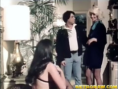 Seka in a threesome : In this classic movie porn star Seka is telling a friend about her husband who is a porn director. She introduces him to another girlfriend of hers and the three of them end up in the bedroom where the guy fucks both girls in turn.