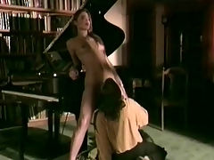 Couple having sex at the piano : A guy has been secretly buying his favourite girl a lot of presents in order to impress her. He really would like to marry her but she is hesitant. Wouldnt it be better to have sex first in order to se if they were made for each other?