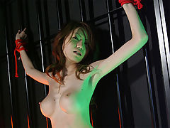 Forced Masturbation : The Japanese are know for that fact to be a bit sadistic and kinky. This Japanese chick loves to get bound up and get her hairy pussy abused with dildos and other massive toys! Watch how she shakes her big silicone tits from pleasure till she cums all over her masters toys!