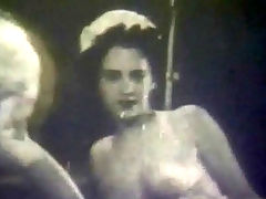 Rare lesbian footage : In this vintage black and white movie two young girls are on a bed. They undress each other and then lick each others hairy pussies in turn.