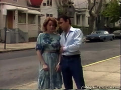 Screwing the neighbour : A girl is walking down the street when she is approached by her neighbor. He takes her into his house where he seduces her. The both of them end up in the bed where he licks her pussy and she sucks his dick before they start fucking.