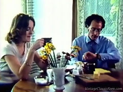 Housewife being fucked : A couple is sitting at the breakfast table. After the man has said goodbye the woman fantasizes about what she would really like. Next we see her being fucked by a much younger guy.