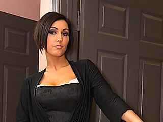 Hot MILF Dylan Ryder Eats Big Cock : Dylan Ryder is a hot stepmom, who accidentally walks in on her stepson masturbating. She gets so turned on by what she sees that she strips off her robe to reveal sexy lingerie. Shocked, Will Powers is defenseless as his stepmom throws her mouth onto his dick. She takes his massive shaft down her throat, sucking his cock until it is firm enough and ready to fuck her pussy. He starts to nail her tight twat, throwing her in many positions until her MILF cum is slathered all over his dick. After, she takes his rod into her mouth and he paints her tongue with his warm jizz. Sure hope dad doesnt taste it later when he kisses mom!