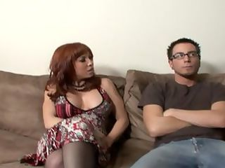 Redhead Milf Brittany Is Gagging For It : Busty redhead milf Brittany OConnell is hot as hell and begging the dick! She gets picked up out in public by stud Dane Cross and taken back to the crib for some horny fucking. She cant wait to get her massive boobs out and show them to her man and damn but they are awesome -100 natural and oh so fuckable! The horny slut has even got thigh high stockings and suspenders on, complete with no panties she walked out the door this morning ready to get fucked! She takes a hard and rough and keeps begging Dane to give it to her even deeper - the slut wants all the hard cock that she can get! She swallows all the jism at the end of the video.