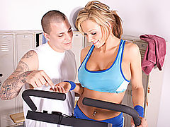 Sexxy Nikki Works out her Rack : Nikki Sexx is having issues with her exercise equipment, but luckily Justice was near by to help her out. Though the only thing he wants to work out is her mouth on his cock. As things get heated up in the gym, these two fitness fanatics grind and pound each other hard all over the equipment until they are soaked in sweat and sweet pussy juices.