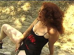 Mature Madison Takes A Cock In Her Pussy And Ass : Madison is back at it again and doesnt look like shes about to slow down. Dressed in skimpy clothes, she goes outside to play with her hairy pussy when she runs into a crazy stud! She sucks off his giant rod, then lays back on the floor and watches as he slowly pounds her hairy twat out!