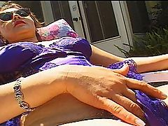 Woman Plays With A Dildo And Gets A Cock in Hairy Poon : Melissa is a natural MILF, who believes in the saying that two is always better than one. This women has no second thoughts about shoving a giant pink dildo in her hairy pussy but this only gets her hotter for more action. When the first guy joins her, she skips foreplay and jumps right into letting him fuck her from behind. However, she does not seem satisfied by one cock and the only solution is for another to join the scene and shove his meat in her mouth. In the meantime the first guy has a chance to switch holes and work a little anal into the action. By the time the scene is over, Melissa ends up with two big loads on her face.