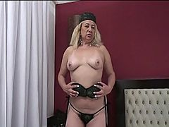 Sexy Blonde Victoria Santos Gets Her Hot Hairy Twat Drilled : Horny blonde mature nympho Vicoria Santos strips out of her panties and tastes her own juices and fingers her wet hole. She then has her juicy pussy eaten by a young stud. She then sucks on his massive black schlong before laying back and taking a hard ass drilling while playing with herself and spreading her pink pussy. Before jumping on top to ride him, taking the meat deep inside. Then a hard drilling from the side brings her more pleasure in her mature hole. She then takes a hot load of the young mans spunk on her hairy pussy and loves every bit of it.