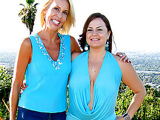 Blond Granny Erica Fingered By Younger Girl : Erica Lauren has been chomping at the bit for a chance to fuck another woman. The idea has always been a turn-on for her, after all, what better time than now to get totally freaky! Busty brunette, Jessica straddles Erica and smothers her face with her lucious, giant tits! Erica immediately responds to Jessicas soft, silken touch and even more to her greedy mouth when its licking her twat to a creamy climax!