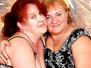 Grey-haired Granny Lesbians Get Off with Sex Toys : Evita looks like one of those stout and stern german schoolmarms. Shes teaching Jana a lesson about pleasure, mainly how to service all of Evitas wishes with her tongue! Evita has Jana naked in seconds, peppering her soft ass with licks and kisses. Then, Jana takes over and lays down Evita on the bed and spreads her legs. Jana delicately rubs a ribbed dildo up and down Evitas fuck slot. Then, without warning, she shoves it almost all the way inside her poon!