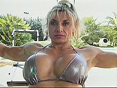 Francesca Petitjean Doing Anal With Pascal St. James : Blonde muscled milf Francesca Petitjean gets her huge clit sucked on and her pussy fucked by the poolboy.