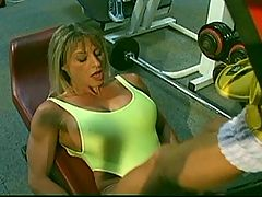 Francesca Petitjean And Kelly Fuck Men At The Gym : Horny whore Francesca Petitjean enjoys getting tapped from behind deep down until she gets an incredible orgasm
