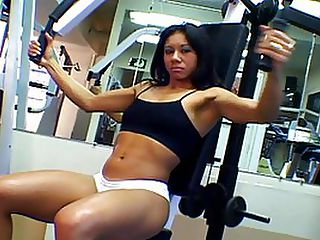 Talita Del Rio Workout Turns Into Some Sucking And Fucking : Cute brunette Talita Del Rio just loves to get drilled so deep inside her wet twat by her mans huge slong