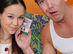 Babe Cuts School To Get Fucked On Camera : This hot school babe was supposed to go to school today, but as soon as her dad zooms away after dropping her off, she instead heads to this guys office and asks him to make her famous. Amai Liu tells him that shes 18, and that she wants to star in some movies! She strips out of what she was barely wearing and shows off her gorgeous, petite body. Then she shows off her dick sucking skills by wrapping her lips around his dick and sucking him stiff. He could barely fit inside of her snatch, but when she does fit it, she cant stop fucking him! That tight snatch is fucked eight ways to Sunday, and then she gets her pretty face covered in cum.