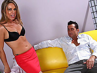 MILF Amanda Blow Craves A Creamy Load : Often its the strictest and most dominant businesswomen who turn out to be the wildest and most submissive in the bedroom! Stud Billy Glide is aggressively seduced by all natural blond MILF Amanda Blow, who strips right in front of the stud and kneels on the sofa, sticking out her ass and pussy for a tonguing. Billy knows an opportunity when he sees one, and he gives Amanda some of the best head that she has ever received. Of course, hes not the only one giving head - shes not called Amanda Blow for nothing! The sex is fucking wild and sweaty, with Amanda really cutting loose as she grinds her moist little cunt on Billys manhood.