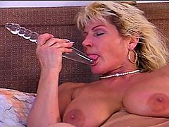 Stacked MILF Renate Black Dicked In Ass : With massive natural tits, a completely unshaved pussy and an ass hole that is begging for a big black cock, Renate is sure sure to get your juices flowing! She certainly does that for her ebony stud, who towers over her while she kneels submissively like the cock whore she is and swallows his man meat. Once the dick is leaking sperm into the back of her throat, Renate bends over and offers up both her holes. First she takes the dick in her pussy, and then her stud unexpectedly rams it straight in her ass - and it slides in completely in one go! This kicks off a bout of hard mature interracial fucking that you wont forget in a hurry!