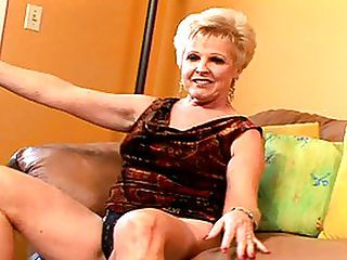 Perfect Body On This Sexy Mature Blond : Its a source of constant amazement just how hot some of these mature bodies are! Champagne might look like someones grandma from the neck up, but from her boobs down she is hot as fuck! She has still got high, firm breasts without any sag, and her narrow waist billows out to a pair of full, fuckable hips. There is one particularly memorable scene in this video, filmed in POV style, looking down on her sweet hips and ass from the back as she gets drilled in her bald pussy by her mans big cock. Thats the kind of shit that is going to make any red blooded man rock hard - horny mature sluts like this deserve to be fucked until they cum!