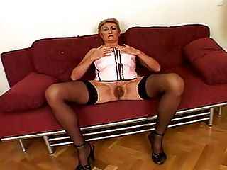 Experienced Whore Creamed On Her Pussy : Extremely stacked and statuesque MILF prostitute Marta is the kind of experienced fuck slut that all young men should visit once. Rather than fumbling around with girls your own age, youre much better off just learning the ropes from an experienced whore who can show you exactly how to pleasure a woman! Her young stud for the day gapes at her big boobs in amazement as she pulls them out of her lingerie he squeezes them experimentally, and then Marta encourages him to lower his face to her nipples and start sucking. With such an experienced pussy, the stud doesnt last long, creaming all over those slutty hirsute vaginal lips.