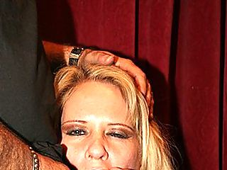Huge Cock Stud Knows How To Please Her : Busty blond milf Bridget Lee sure is in for a treat today! She is paired up with veteran stud Ron Jeremy. You have probably heard of Ron before - despite the fact that he is short, fat, balding and ugly, he is possessed of one characteristic that puts him a cut above the rest - his stupendous 10 inch penis! Bridget cant wait to get dirty with the guy, knowing that he has got what she needs to get off. She strips, spreading her legs on a chair and letting him tongue her slippery snatch. Ron is expert at licking pussy and brings her close to the point of orgasm with his tongue, at which point he rams his massive pole right up inside her.