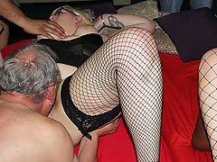 Saphire and Poppy : BBW crazy British gang bang action.